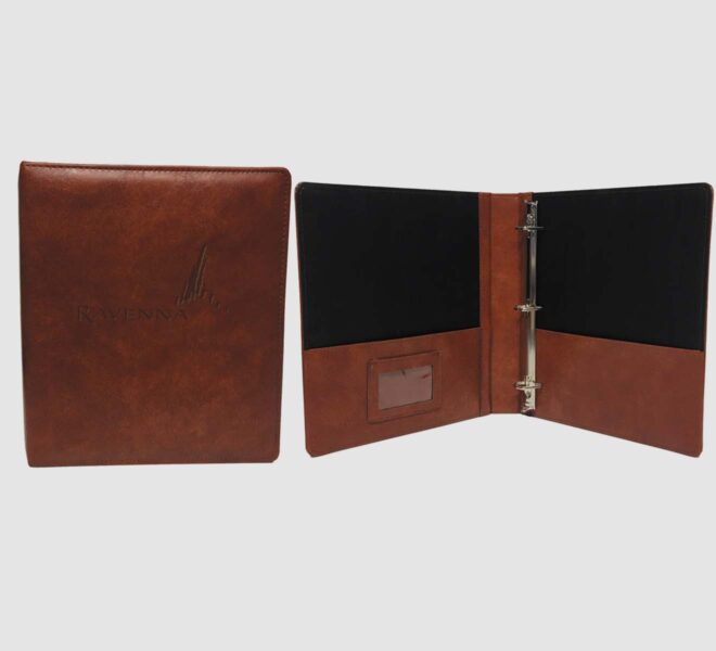 Fine Leather Binders- custom unified packaging made in the usa