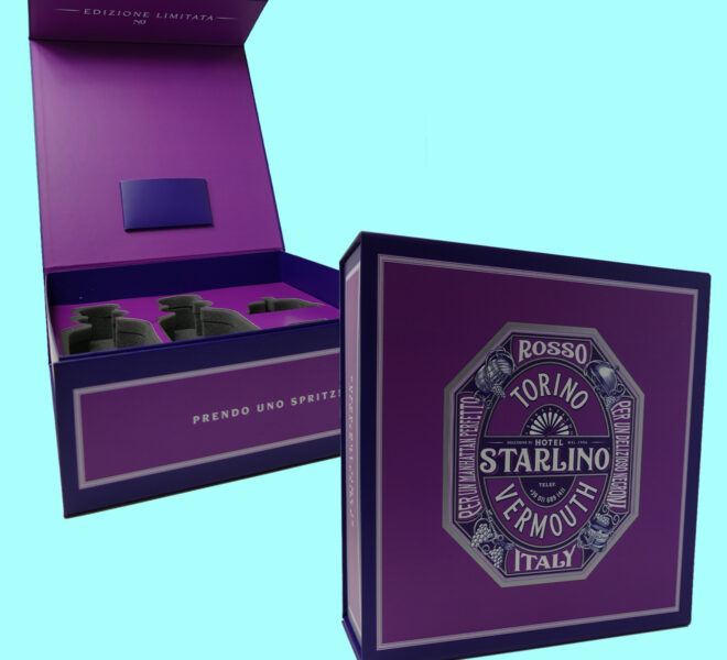 Custom Beverage Packaging hinged lid ridgid box