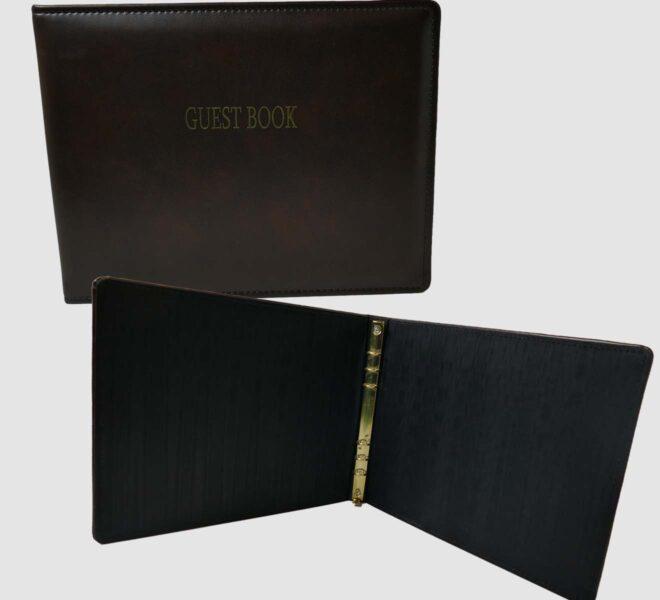Custom-Hotel-Resort-guest-book-custom-binder-unifiedpackaging.com