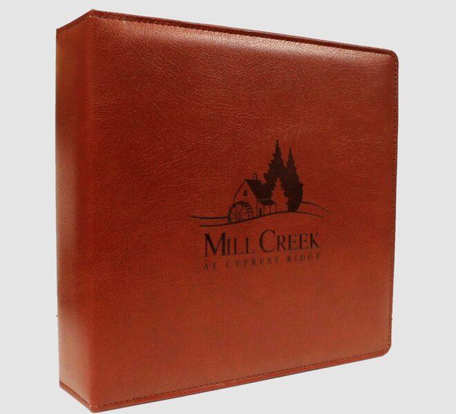 Custom-sewn-binders-2-with screen print logo unifiedpackaging.com